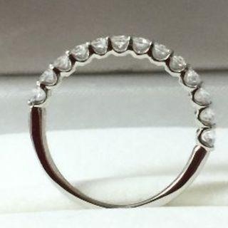 Pt950ハートアンドキューピッドダイヤリング(リング(指輪))