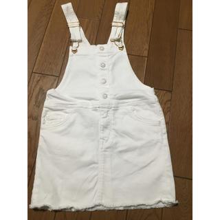 エイチアンドエム(H&M)のH&M デニムジャンパースカート110cm(ワンピース)