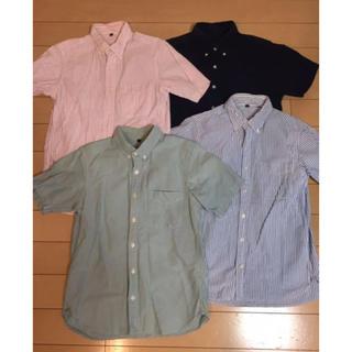 ムジルシリョウヒン(MUJI (無印良品))の無印 ボタンダウン シャツ サッカー オックス 4点セット Sサイズ(ポロシャツ)
