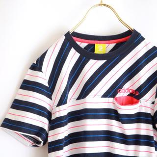 アディダス(adidas)の【adidas】ボーダー 半袖カットソー☆(Tシャツ/カットソー(半袖/袖なし))