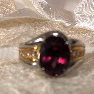 ルベライトリングpt 900  K18(リング(指輪))