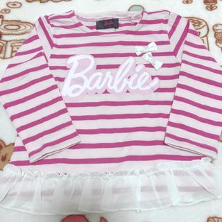 バービー(Barbie)のバービー ボーダー トップス 80cm(シャツ/カットソー)