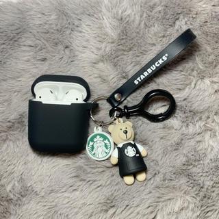 スターバックスコーヒー(Starbucks Coffee)のAirpodsケース 海外限定 スタバ 熊 starbucks 熊おもちゃ(キャラクターグッズ)