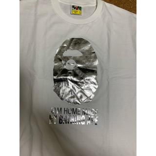 アベイシングエイプ(A BATHING APE)の激レアLサイズ美品! BAPE×JAM HOME MADE猿顔Tシャツ白銀(Tシャツ/カットソー(半袖/袖なし))