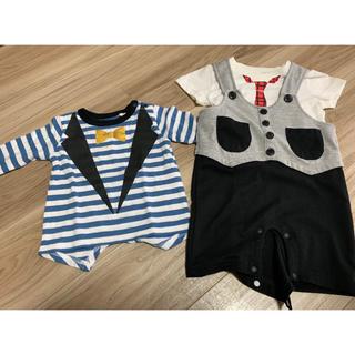 マーキーズ(MARKEY'S)のロンT・ロンパース&Tシャツセット 70センチ(Tシャツ)