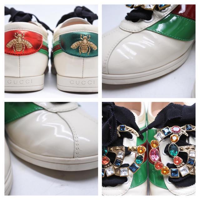 Gucci(グッチ)のGUCCI グッチ 18AW ファレーサー パテント スニーカー  インター34 レディースの靴/シューズ(スニーカー)の商品写真