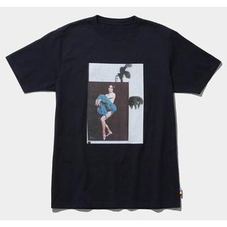マメ(mame)のmame x conveni 限定 Tシャツ 紺 新品 マメ クロゴウチ(Tシャツ(半袖/袖なし))