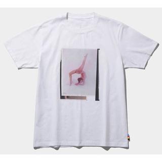 マメ(mame)のmame x conveni 限定 Tシャツ 白 新品 マメ クロゴウチ(Tシャツ(半袖/袖なし))