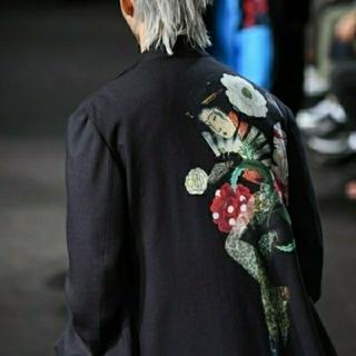 ヨウジヤマモト(Yohji Yamamoto)のyohji yamamoto 19ss 浮世絵ジャケット(ノーカラージャケット)