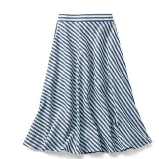 ベルメゾン(ベルメゾン)の日本製 ストライプスカート(ひざ丈スカート)