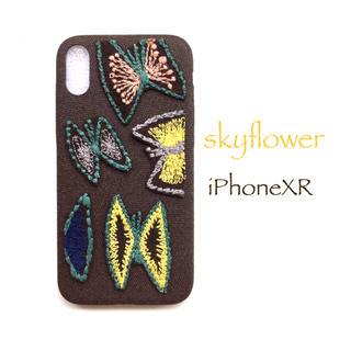 ミナペルホネン(mina perhonen)のskyflower*iPhoneXR*brown(スマホケース)