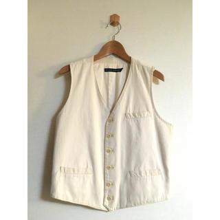 ラルフローレン(Ralph Lauren)の美品 ラルフローレン 6ボタン ベスト レディース 11 ホワイト XPV(ベスト/ジレ)