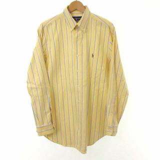 ラルフローレン(Ralph Lauren)のRALPH LAUREN シャツ ボタンダウン ストライプ 黄色 メンズ(シャツ)