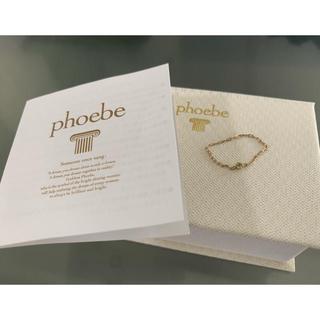 フィービィー(phoebe)のPhoebe 【K10】カラーストーンチェーンリング(リング(指輪))