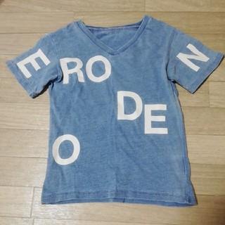 ロデオクラウンズワイドボウル(RODEO CROWNS WIDE BOWL)のRCWB RODEO CROWNS ロデオクラウンズ キッズ Tシャツ デニム(Tシャツ/カットソー)