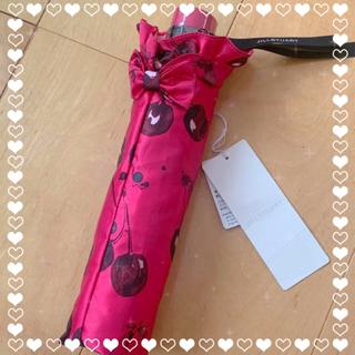 ジルスチュアート(JILLSTUART)のジルスチュアート 雨傘 折りたたみ傘 さくらんぼ(傘)