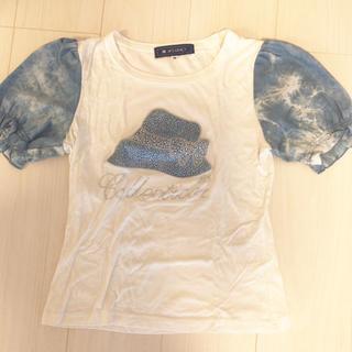 エムズグレイシー(M'S GRACY)のエムズグレイシー   パフスリーブ カットソー/Tシャツ ラインストーン(Tシャツ(半袖/袖なし))
