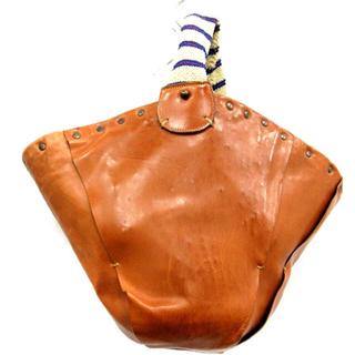 ドレステリア(DRESSTERIOR)のエバゴス EBAGOS バッグ ハンド かご レザー 切替 茶色 ブラウン(かごバッグ/ストローバッグ)