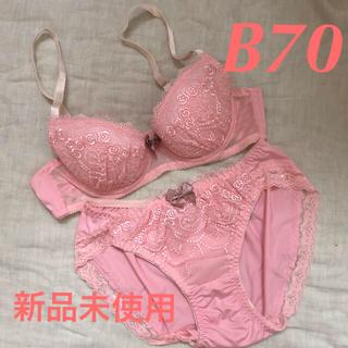B70 M 新品未使用 ブラジャー&ショーツセット (ブラ&ショーツセット)