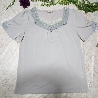 アクシーズファム(axes femme)のaxesfamme*** パープルTシャツ  (L)(Tシャツ(半袖/袖なし))