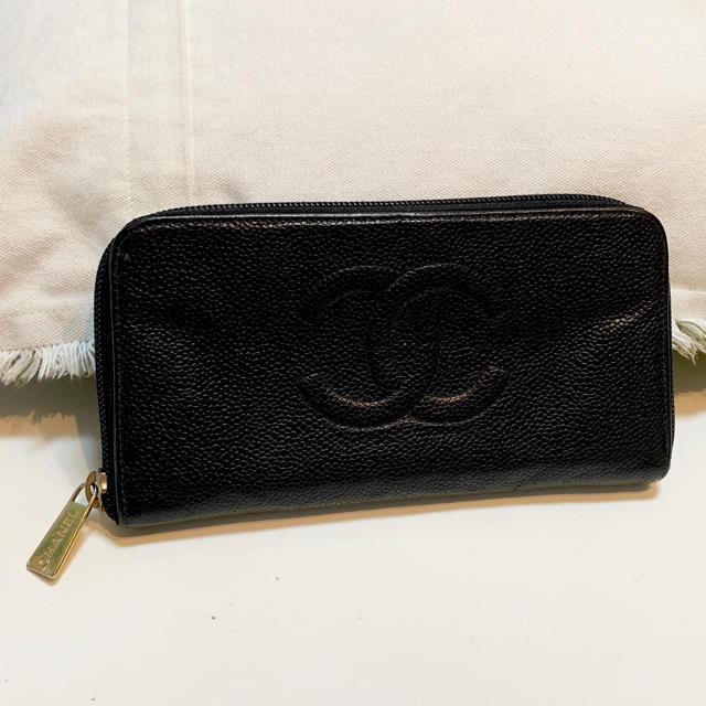 CHANEL - CHANEL✼キャビアスキン長財布の通販 by mefor's shop|シャネルならラクマ