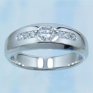 手作りPt900★天然ダイヤモンド・リング(新品)(リング(指輪))