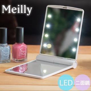 ムジルシリョウヒン(MUJI (無印良品))の 【新品美品】LEDライト 女優ミラーコンパクトタイプ(ミラー)