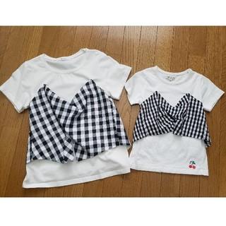 ビスチェ風Tシャツ 親子コーデ❤️(Tシャツ/カットソー)