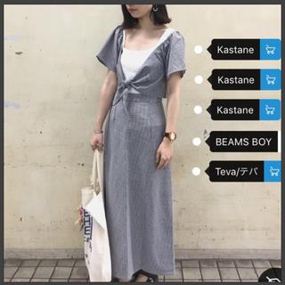 カスタネ(Kastane)のkastane ギンガムチェック トップス(シャツ/ブラウス(半袖/袖なし))