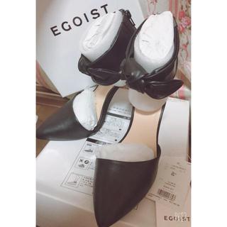 エゴイスト(EGOIST)のエゴイスト 人気商品 完売品 定価12980円ブラックリボン(ハイヒール/パンプス)