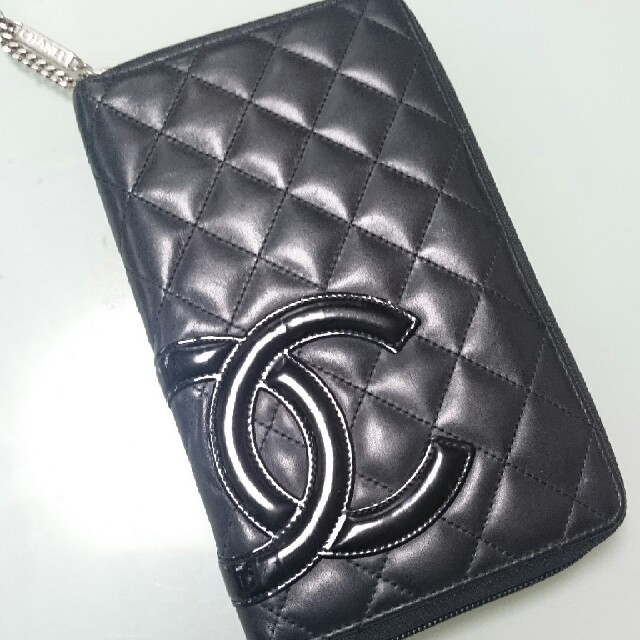 CHANEL - 正規シャネル カンボンライン ラウンドファスナー財布の通販 by 質問逃げ辞めて下さい's shop|シャネルならラクマ