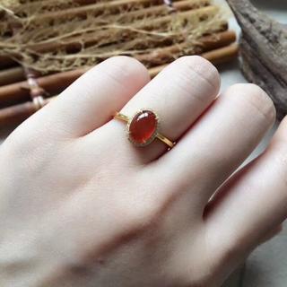 242 k18金リング ゴールドリング 赤翡翠リング ダイヤモンドリング 指輪 (リング(指輪))