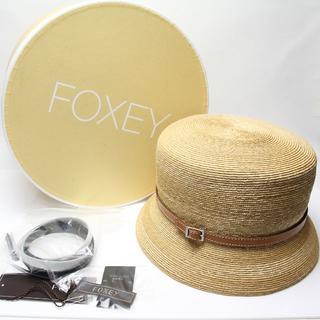 フォクシー(FOXEY)の未使用 フォクシー ストローハット 麦わら帽子 ベルト FOXEY(麦わら帽子/ストローハット)