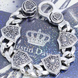 Justin Davis - 新品未使用 ジャスティンデイビス 8インチ クラウンシールドブレスレット 高級