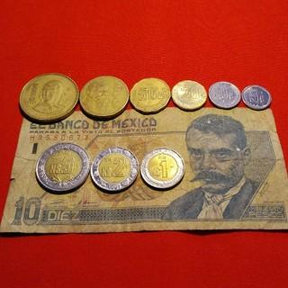 メキシコの硬貨と紙幣(貨幣)