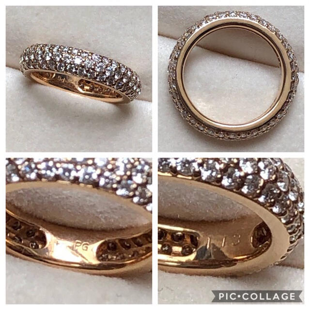 PonteVecchio(ポンテヴェキオ)のポンテヴェッキオ ダイヤモンド フルエタニティリング ピンクゴールド レディースのアクセサリー(リング(指輪))の商品写真