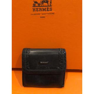 ジルバイジルスチュアート(JILL by JILLSTUART)のJILL STUARTジルスチュアー本革財布男女兼用やや美品ブラックコンパクト(折り財布)