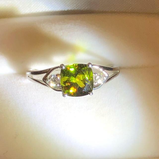 ふーちゃんさま 美品 希少 クロムスフェーン リング k18 wg  17号 レディースのアクセサリー(リング(指輪))の商品写真