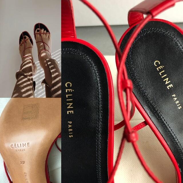 celine(セリーヌ)の限定値引!新品本物 セリーヌ CELINE フィービー ヌードサンダル 37 レディースの靴/シューズ(サンダル)の商品写真