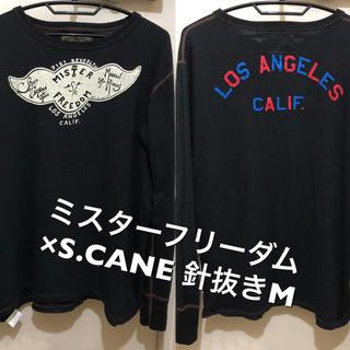 Sugar Cane - 針抜きMサイズ!ミスターフリーダム×シュガーケーン 古着長袖Tシャツ ロンT