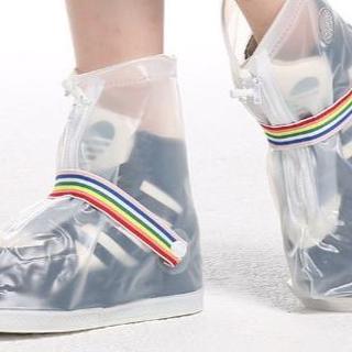 靴の上から履ける!レインシューズカバー レインブーツカバー ホワイト(レインブーツ/長靴)