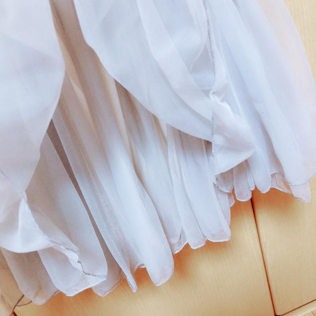 one after another NICE CLAUP(ワンアフターアナザーナイスクラップ)のナイスクラップ シフォン スカート レディースのスカート(ミニスカート)の商品写真