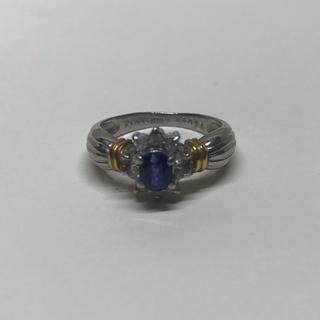 K18 ロイヤルブルー サファイア/0.25ct ダイヤ 16号 リング(リング(指輪))