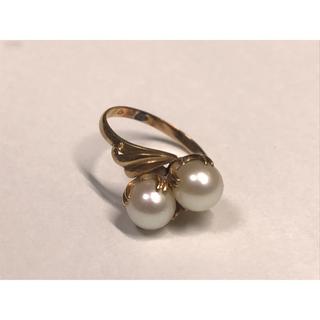 パールリング レディース 真珠の指輪 オーロラ あこや本真珠花珠 ダイヤモンド (リング(指輪))