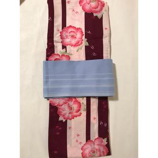 ユニクロ(UNIQLO)のUNIQLO 浴衣、帯セット(甚平/浴衣)