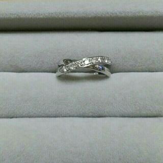 スタージュエリー(STAR JEWELRY)の【美品】ダイヤモンド ピンキーリング K18WG サイズ1(リング(指輪))