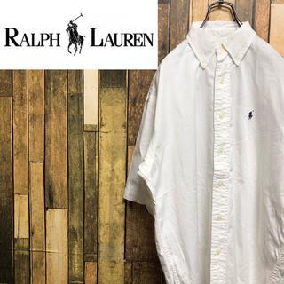 ラルフローレン(Ralph Lauren)の【激レア】ラルフローレン☆ワンポイント刺繍ロゴ半袖BDビッグシャツ 90s(シャツ)