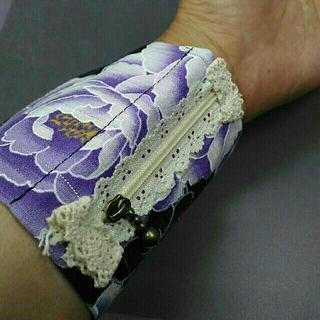 浴衣にぴったり、お祭り財布(紫)(財布)
