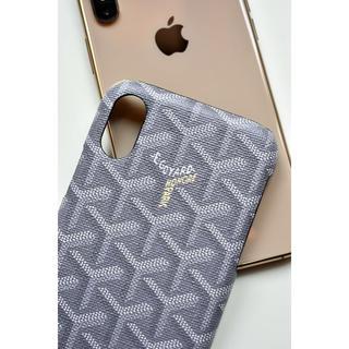 ゴヤール(GOYARD)のiPhone X XS用   ロゴケース  グレー(iPhoneケース)