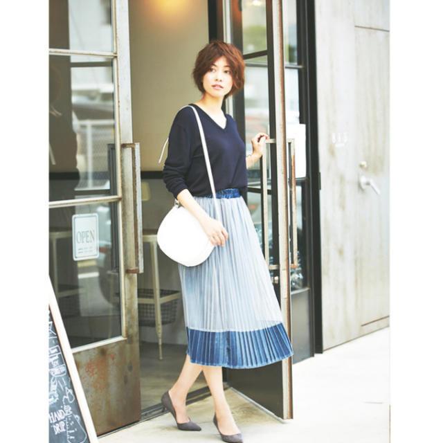 FRAY I.D(フレイアイディー)のnostalgia ベロアチュールプリーツスカート レディースのスカート(ロングスカート)の商品写真